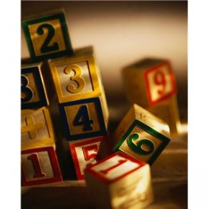 ca. 2001 --- Alphabet and Number Blocks --- Image by © Royalty-Free/Corbis